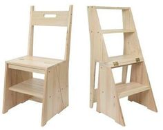 A kitchen chair that quickly transforms into a four step ladder for cupboards..so useful!