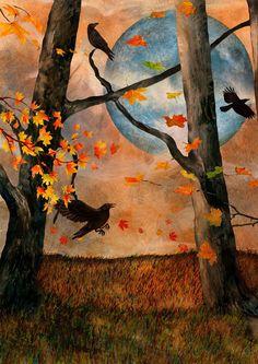 Blue Moon Ravens by claytoncolgin