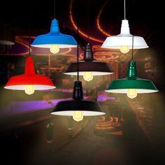 Industrial Vintage Light Retro Pendant Lamp Shades Factory Edison Ceiling Lights #VintageRetro