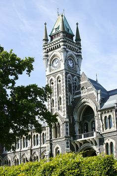 University of Otago, Dunedin, New Zealand--An internationally ranked university that you can attend through BCA's semester-long program! Scenery Photography, Landscape Photography, Night Photography, Wedding Photography, Beautiful Buildings, Beautiful Places, Great Places, Places To Go, Beach Scenery