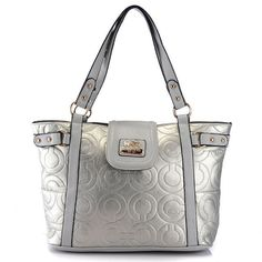 #Coach #CoachNewYorkStories Find fashion styles of Coach In Printed Signature Large Silver Totes AZW. $62.99