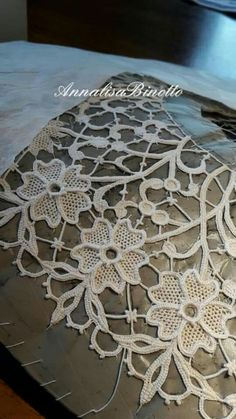 Black Lace Tattoo, Lace Beadwork, Lacemaking, Point Lace, Needle Lace, Cutwork, Crochet Designs, Embroidery Applique, Crochet Lace