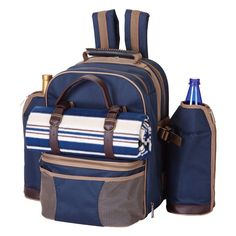 Picnic Plus PS4-416N Tremont Picnic Pack for 4 Person in Navy