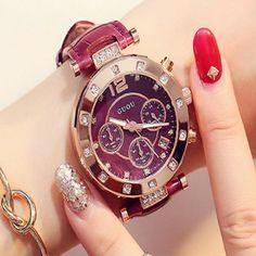 Luxury Ladies Watch Women Bracelet Watches #Luxury #Ladies #Watch #Women #Bracelet #Watches @lalbuginfo Fashion Luxury Ladies Watch Women Bracelet Watches For Women Calendar Clock Leather relogio feminino saat