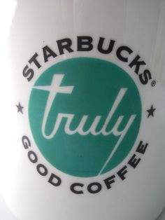 """""""Diner Style"""" Starbucks Coffee Mug!  """"Truly Good"""".  Retro look for your home or office.  $29.99"""