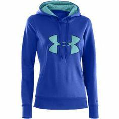 Under Armour Storm Armour Fleece Big Logo Hoodie - Women's - Blue / Light Blue Under Armour Outfits, Under Armour Jackets, Under Armour Women, Athletic Outfits, Athletic Wear, Sport Outfits, Under Armour Sweatshirts, Under Armour Hoodie, Winter Tops