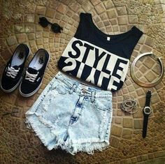 Stylish First Date Outfits for Girls Mode Outfits, Casual Outfits, Girl Outfits, Summer Outfits, Fashion Outfits, Fashion Trends, Club Outfits, Vans Fashion, Swag Fashion