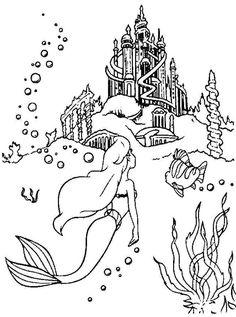 Palace Princess Ariel Coloring Page
