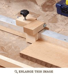 Radial-arm-saw/Mitersaw Fence Stop Woodworking Plan, Workshop & Jigs Jigs… Used Woodworking Tools, Wood Tools, Woodworking Plans, Woodworking Projects, Woodworking Videos, Woodworking Courses, Woodworking Quotes, Unique Woodworking, Wood Jig