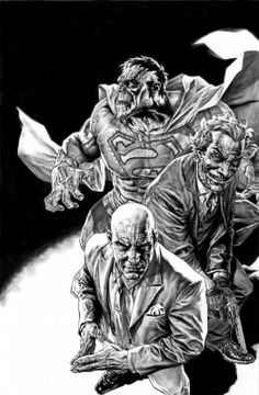 Lee Bermejo - Bizarro, Joker and Lex Luthor Comic Book Villains, Superhero Villains, Dc Comic Books, Comic Book Artists, Comic Artist, Comic Book Characters, Comic Character, Batman, Superman