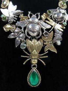 Buggy statement necklace. Mars  Valentine $495 Audrey Hepburn Movies, Designer Consignment, Designing Women, Mars, Antique Jewelry, Art Nouveau, Bee, Arts And Crafts, Brooch
