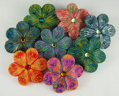 2 Good Claymates: Batik Flowers for Spring