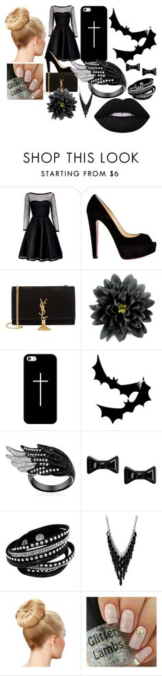 """""""mad at your friend"""" by brit-girl-d on Polyvore featuring Marc by Marc Jacobs, Christian Louboutin, Yves Saint Laurent, Casetify, Alexa Starr, Lime Crime, women's clothing, women, female and woman"""
