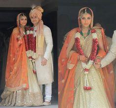Soha Ali Khan weds in Sabyasachi