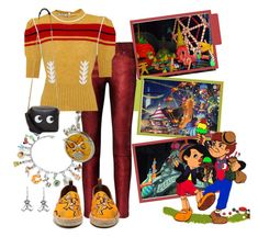 """Pleasure Island (Pinocchio, Disney)"" by funnfiber ❤ liked on Polyvore featuring Tedora, NOVICA, Disney, RtA, Be-Jewelled, Miu Miu, Loewe and Anya Hindmarch"