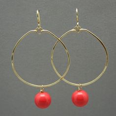 The right coral hoops can make you look as breathtakingly beautiful as Myrtle Beach. Nicholas Lane