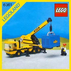 Who of you 80's kids remember building 6361 - Mobile Crane?