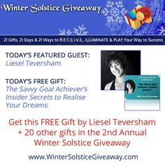 7 Lessons on the crucial principles to achieving your goals, chock-full of personal experience, examples and small do-able action steps, by Liesel Teversham http://bit.ly/1FIaHv1 #solsticegifts