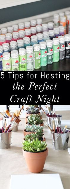 What a fun party or girls night idea! Tips for Hosting the Perfect Craft Night. I think we are going to have to do this soon!