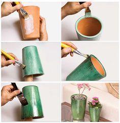 Passo a passo de como fazer um vaso estilo vietnamita. Fica lindo! http://vilabacana.com.br/diy/vaso-quase-vietnamita/