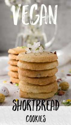 Simple recipe for vegan shortbread cookies. Made with only 3 ingredients! | via @annabanana.co