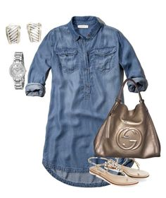 perfect Summer outfit to just put on and go. Summer Tunics, Put On, Summer Outfits, Polyvore, Fashion, Moda, Fashion Styles, Outfit Summer, Fashion Illustrations