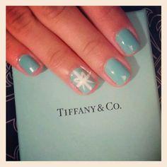 My Tiffany inspired nails