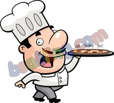 chef going to serve pizza kids canvas prints for just rupees 1625 @bsabling.com #canvasprints #indianpaintings
