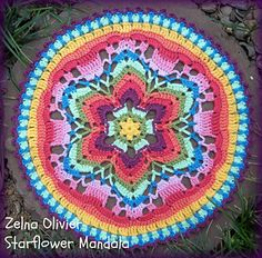 Starflower Mandala Free #crochet pattern!