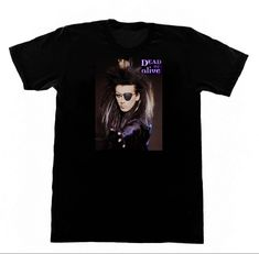 Dead or Alive Band T SHIRT Pete Burns 213 T-Shirt 80s Pop Trans LGBT New Short Sleeve Round Collar Mens T Shirts Fashion 2017
