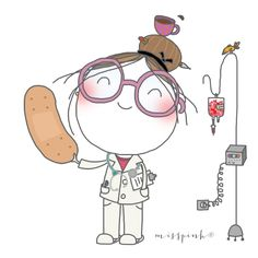 Doctor Drawing, Nurse Art, Nurse Love, Medical Art, Painting Of Girl, Happy Art, Get Well Cards, Stick Figures, Cute Images