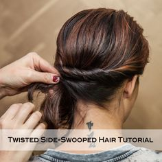 Twisted Side-Swooped Hair Tutorial. Hair DIY.
