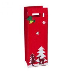 """Getränkefilztasche """"Schöne Weihnachten"""" 38 cm #weihnachtsfeier #wichtelgeschenk #mitbringsel"""