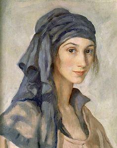 Self-portrait (7) by Zinaida Serebriakova (1884-1967, Ukraine) Love the way her scarf is!