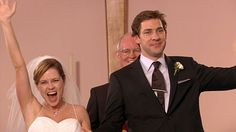 Pam and Jim. This episode originally aired two days before my wedding, October 8th, 2009,I got married on the 10th...made my life. :)