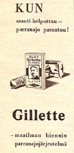 Gillette-mainos/1950