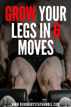 Do you want to gain muscle? Do you want to gain lean mass? Do you want bigger legs? If your goal includes gaining muscle, you need this workout. Training legs can not only help you build bigger legs, but it can also help you build muscle throughout your b Leg Workouts For Mass, Killer Leg Workouts, Leg Workout At Home, Gym Workout Tips, No Equipment Workout, Workout Men, Fitness Equipment, Bigger Thigh Workout, Intense Leg Workout