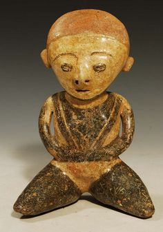 Nayarit, West Mexico, ca. 300 BC to 200 AD. seated pottery female figure with…