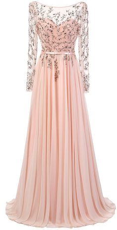 Sparkly Prom Dress, prom dresses,Sexy Prom Dress,A-Line Bateau Long Sheer Sleeves Backless Beading Long Prom Dress with Sash, These 2020 prom dresses include everything from sophisticated long prom gowns to short party dresses for prom. Prom Dresses Long With Sleeves, Pink Prom Dresses, Backless Prom Dresses, A Line Prom Dresses, Formal Dresses For Women, Homecoming Dresses, Dress Long, Dress Prom, Prom Gowns