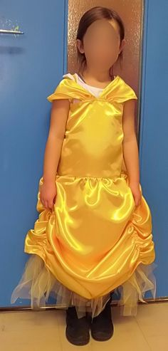 Robe princesse jaune - atelier-asteria.com