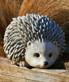 825 Pudgy Pals Weather Finished Hedgehog Outdoor Garden Statue Figure Click i Pottery Animals, Ceramic Animals, Clay Animals, Pottery Sculpture, Sculpture Clay, Pottery Art, Outdoor Garden Statues, Garden Figurines, Ceramic Clay