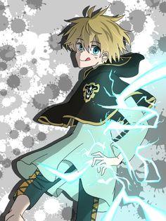 Luck voltia⚡️⚡️⚡️ Clover 3, Four Leaf Clover, Black Clover Anime, Black Butler Manga, All Anime, Black Cover, My Hero Academia, Blue Exorcist, My Black