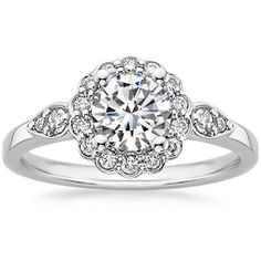 This is a genuine beauty!!   18K White Gold Camillia Diamond Ring (1/4 CT. TW.) from Brilliant Earth