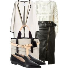 A fashion look from February 2015 featuring By Malene Birger blouses, MANGO coats and Jason Wu skirts. Browse and shop related looks.