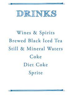 Bar Mitzvah Event Drinks Menu Design Www Dkkevents