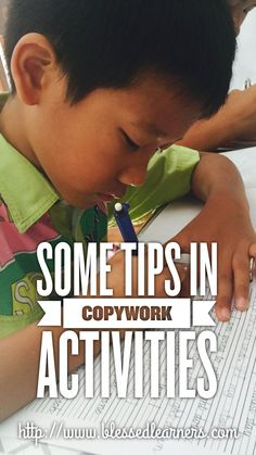 How do you get more out of the copy work activities? Here are some tips on copy work that might help.