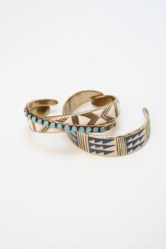 Enamel Cuffs by Kathryn Bentley