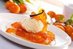 Konfitura z kumkwatu z lodami i miodowym krakersem #smacznastrona #poradyTesco #przepisyTesco #konfitura #kumkwat #lody #yummy