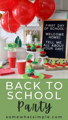 Back To School Party, Back To School Hacks, Back To School Teacher, 1st Day Of School, School Parties, School Fun, Kid Parties, Themed Parties, School Days