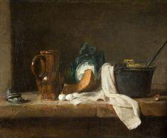 Chardin, Still Life, c. 1730, oil on canvas, 11 x 14½ in.